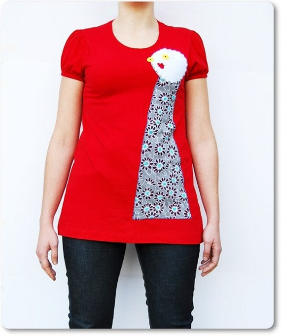 Size S -  Soul of Doll - Applique Red T-shirt