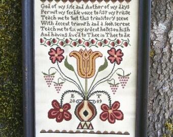 Anna's Prayer : Cross Stitch Pattern by Heartstring Samplery