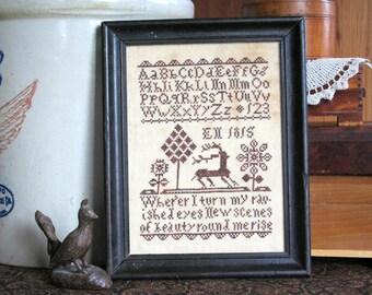 EN 1815 : Cross Stitch Pattern by Heartstring Samplery