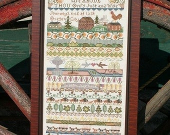 On the Oregon Trail : Cross Stitch Pattern by Heartstring Samplery