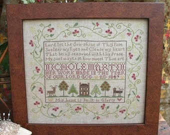 My Home is Built in Glory : Cross Stitch Pattern by Heartstring Samplery