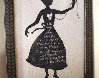 My Shadow : Cross Stitch Pattern by Heartstring Samplery