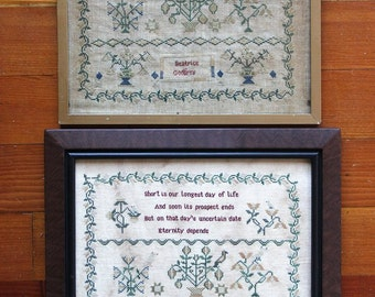 Beatrice Godfrey (a Faithfully Reproduced Antique Sampler) Cross Stitch Pattern