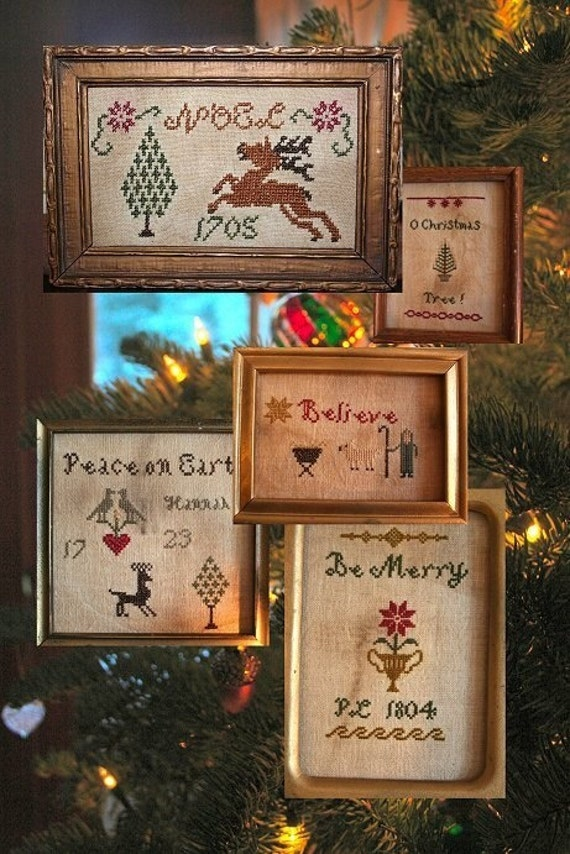 Tidings of Comfort and Joy (5 Little Christmas Samplers)