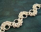 Otonabee // chainmaille silver bracelet