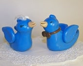 Twittering Love Birds Wedding Cake Topper - Colors of Choice