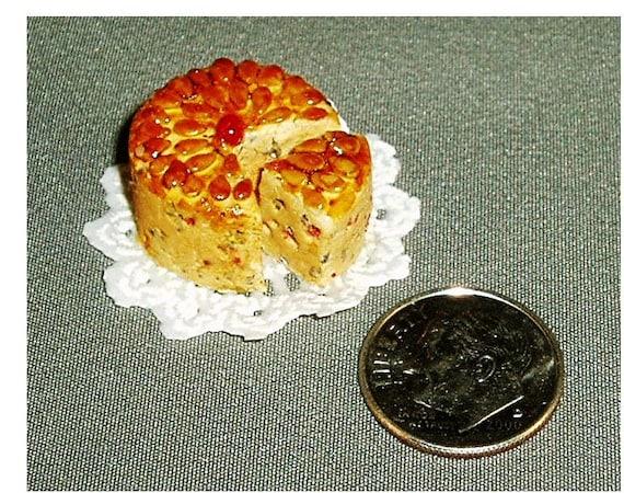 Dollhouse miniature detailed Dundee cake