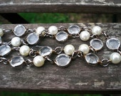 Glass and Pearls Vintage Nacklace