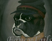 Boxer Hector the Soldier Notecard