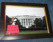 Snoopy in Washington DC Framing