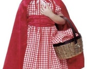 Modest Handmade Halloween Costume ---Little Red Ridinghood--- Child sizes up to 8