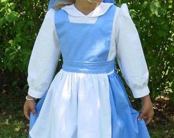 Modest Handmade Halloween Costume ---Belle--- Child sizes up to 8