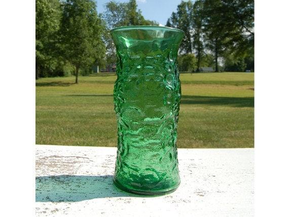 e o brody vintage green glass vase. Black Bedroom Furniture Sets. Home Design Ideas