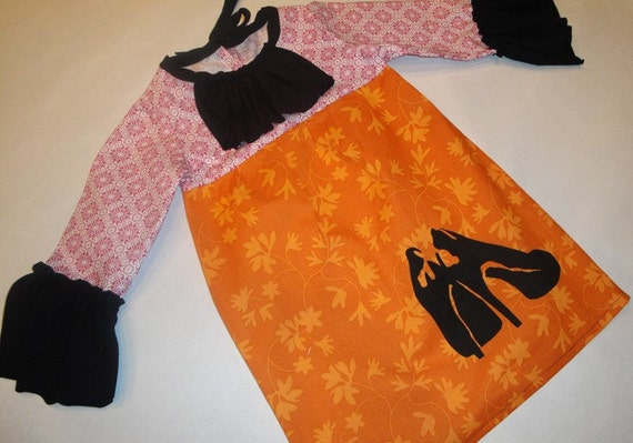 chimi shoes ruffle dress - size 3T/4T ready to ship