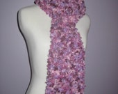 Long but Light Shades of Purple Fun Textured Scarf