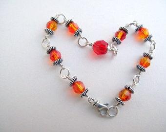 Sparkling Tequila Sunrise Bracelet