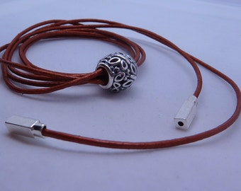 Leather lariat/lariet for beads