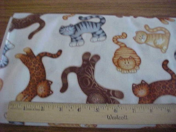 Cats on Cream One Yard of Fabric by Timeless Treasures