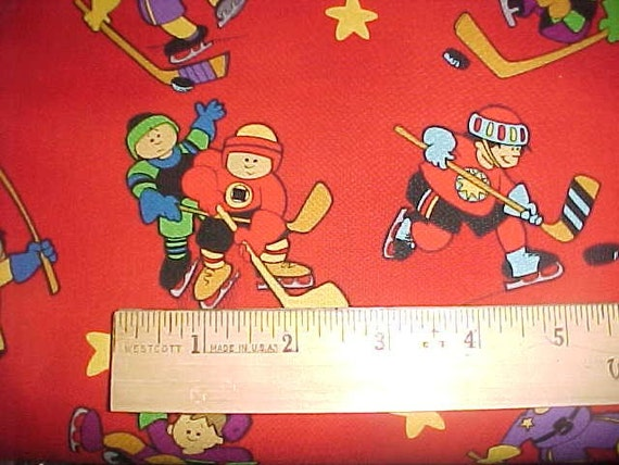 Hockey Outdoor Fun Fabric By Print Concept Last Yard