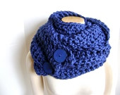 Crochet Scarf Cowl - ON SALE 54 reg 74 Chunky Cozy and Chic