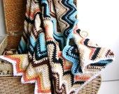 Crochet Pattern - for Chevron Baby Blanket - Easy Beginner Pattern INSTANT DOWNLOAD