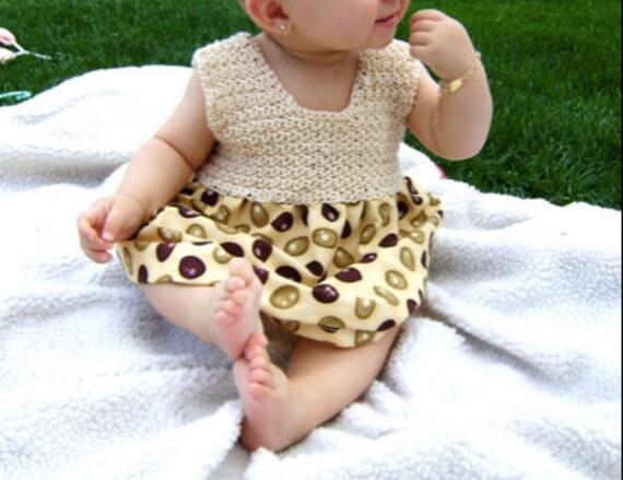 Fabric & Crochet Dress Pattern - INSTANT DOWNLOAD - Easy Pattern