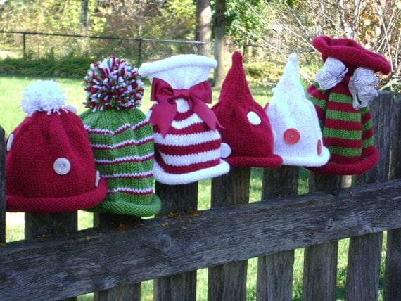 Christmas Hats Collection Pattern - Includes all 6 Knitting Patterns - Sizes for Newborn to Teens INSTANT DOWNLOAD