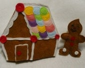 SAM Finger Puppets - Gingerbread Baby/Boy and Gingerbread House