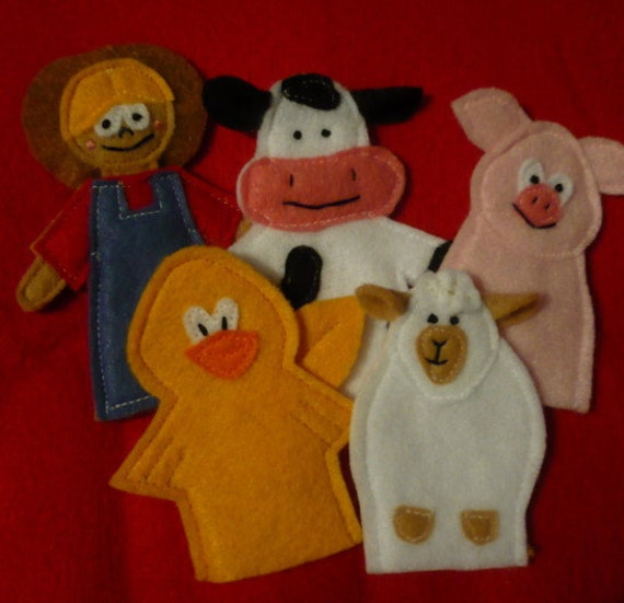 SAM Felt Finger Puppets - Old MacDonald and Farm Animals