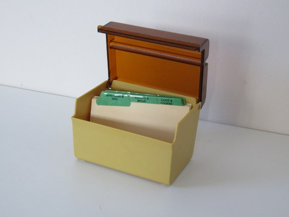 Recipe Box, Neutral Color, Dividers Included