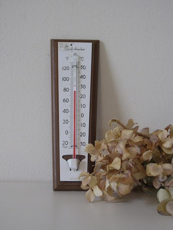 vintage thermometer, wall hanging, mid century, retro comfortmeter