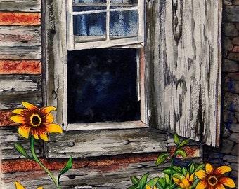 Texas Ranch House Window