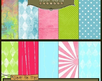 Color Your World Digital Papers for Invitations, Card Making, Digital Scrapbooking - Instant Download