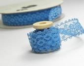 vintage lace ribbon. moroccan blue