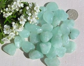 10 Green Prehnite Crystal Tumblestones, Green Crystals, Chakra Crystals, Crystal Collection, Feng Shui, Meditation Crystals, Scrying Stone