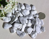 10 White Howlite Crystal Tumblestones, White Crystals, Chakra Crystals, Crystal Collection, Reiki. Jewelry Making, Meditation Stone