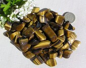 10 Tiger Eye, Gold, Crystal Tumblestones, Crystal Collection, Chakra Crystals, Meditation Stone, Confidence Crystal, Tigers Eye, Gemini