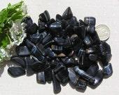 10 Blue Tiger Eye Crystal Tumblestones, Blue Crystals, Chakra Crystals, Crystal Collection, Hawkseye Crystals, Gemini, Meditation Stone