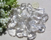 10 Clear Quartz Crystal Tumblestones, Crystal collection, Chakra Crystals, Meditation stone, Leo Crystals, Worry Stone, Rock Crystal