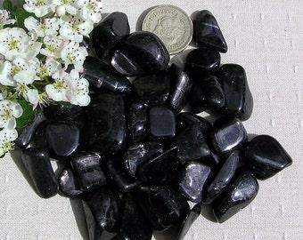 10 Black Hypersthene (Velvet Labradorite) Crystal Tumblestones, Black Crystals, Crystal Collection, Chakra Crystals, Meditation Stone