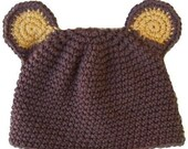 Brown Bear hat- All babies and kids sizes available