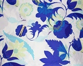Blue and Green Floral Crib Sheet. Bed skirts, Bumpers or Duvet covers also available.