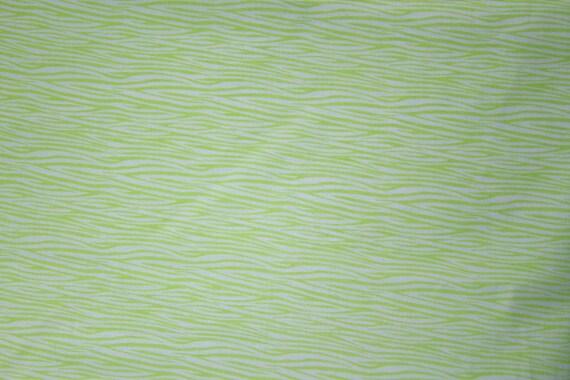 Lime Green Crib Sheets. Bright green wavy print on super soft white cotton.