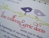 Love Birds Invitation