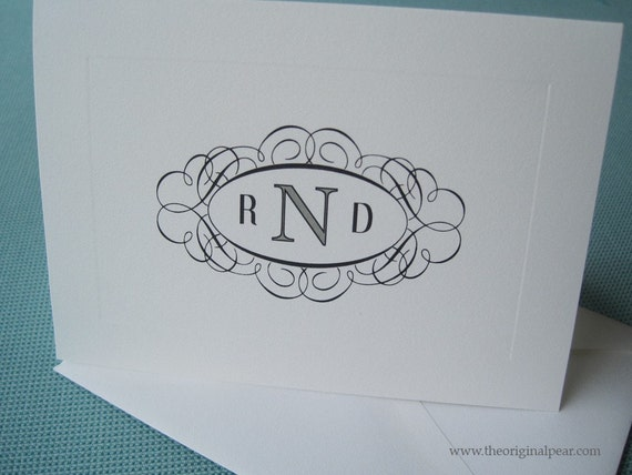 Monogram Cards - Set of 20
