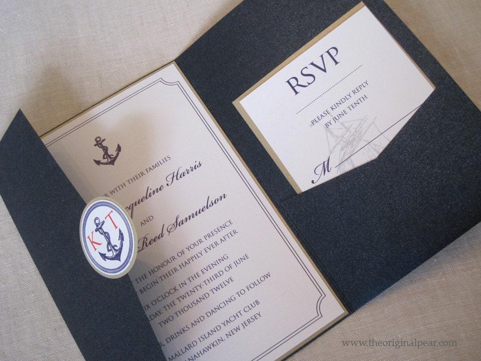 Nautical Theme Wedding Invitation By Theoriginalpear On Etsy