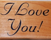 I Love You Large Rubber Stamp from Inkadinkado