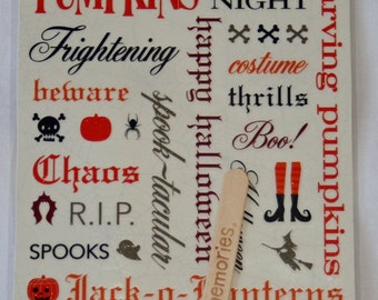 Halloween Spook Alley 26 Shimmer Rub Ons by Making Memories