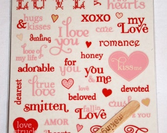 Love Notes Rub-On Words and Hearts by Making Memories