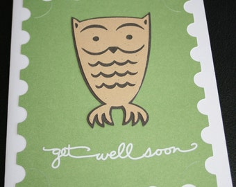 Wise Owl Get Well Soon Card